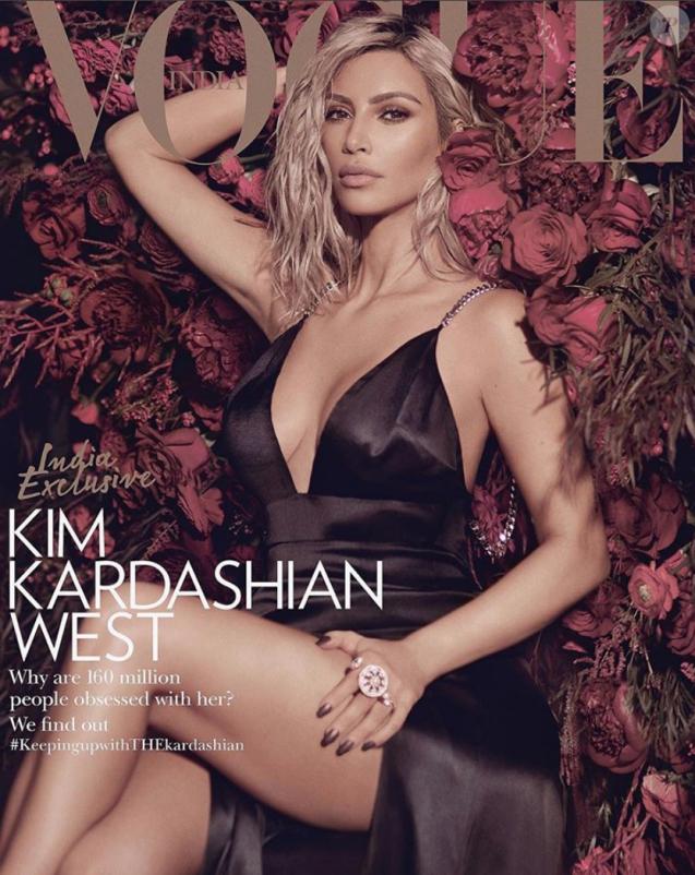 Kim Kardashian pour Vogue India, mars 2018.