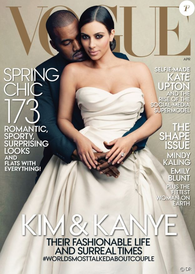 Kanye West et Kim Kardashian pour Vogue US, avril 2014