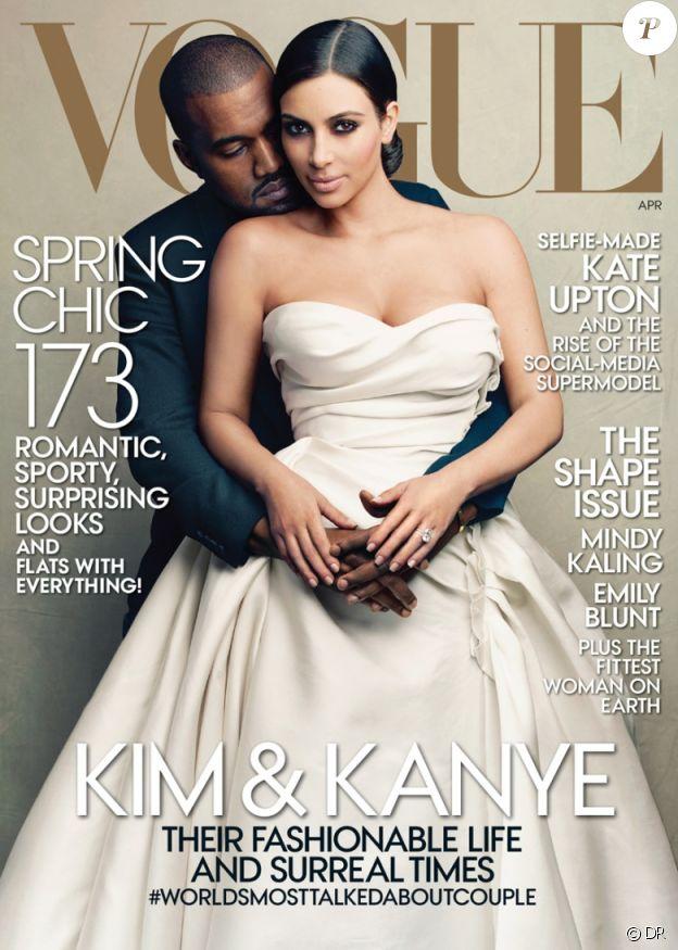 Kanye West et Kim Kardashian pour Vogue US, avril 2014