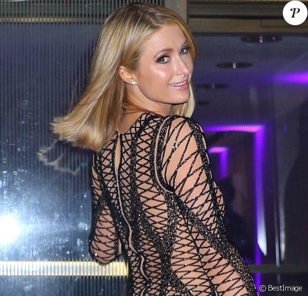 Paris Hilton - Les célébrités arrivent au restaurant The Grille pour fêter l'anniversaire de Rihanna (30 ans) à New York, le 20 février 2018.