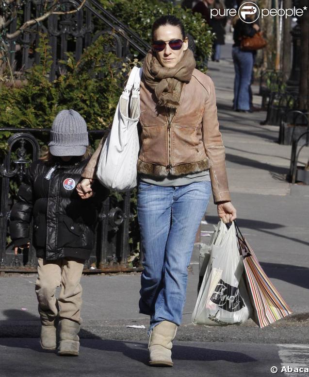 Sarah Jessica Parker et son fils James partent chercher un cadeau d'anniversaire pour Matthew Broderick