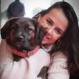 Pauline Ducruet avec sa chienne Mala, photo Instagram 18 février 2018.