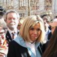 Brigitte Macron a accompagné le ministre de l'Education Nationale, Jean-Michel Blanquer au lycée Carnot de Dijon afin d'y évoquer la lutte contre le harcèlement à l'école à Dijon le 5 mars 2018 © Dominique Jacovides/Bestimage