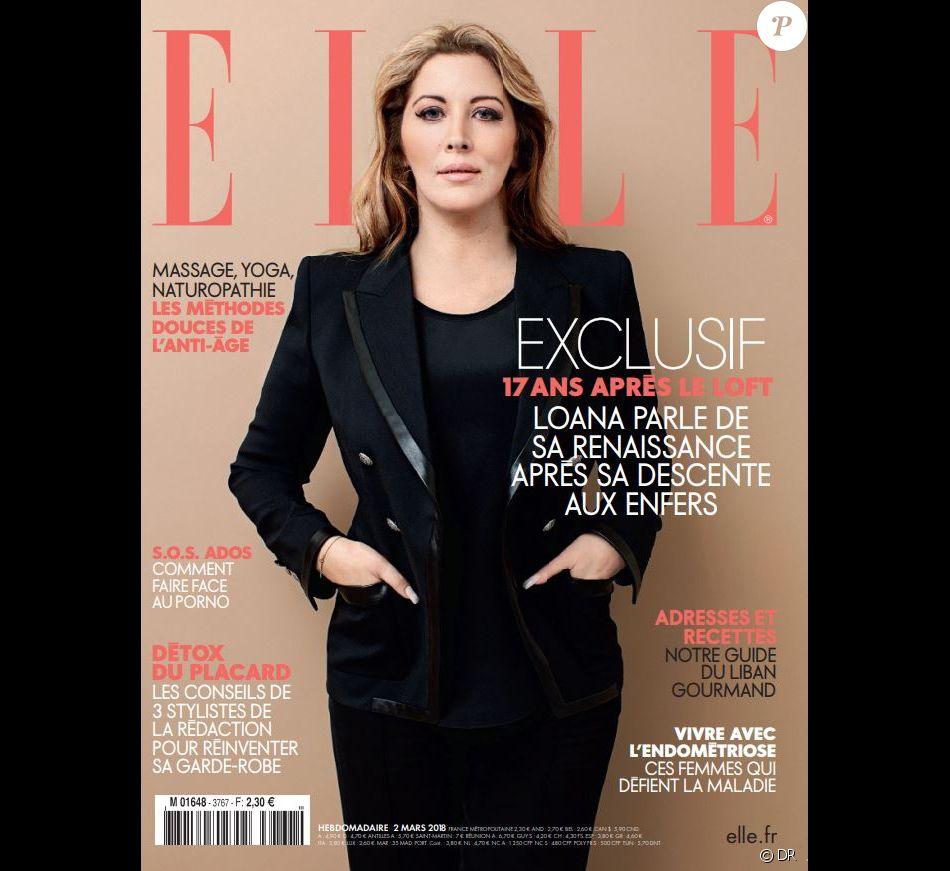 """Couverture du magazine """"ELLE"""" en kiosques le 2 mars 2018"""