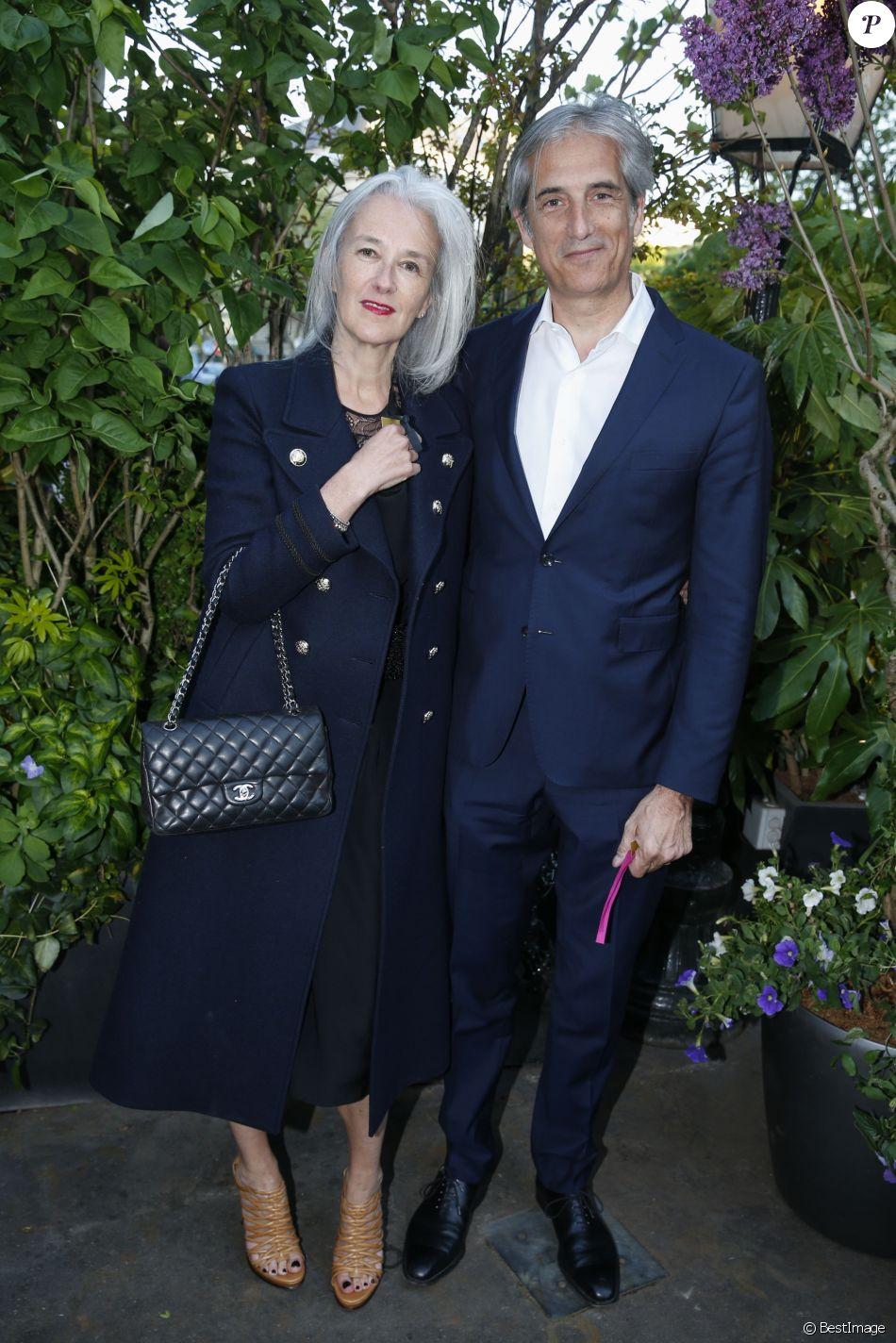 Tatiana de Rosnay et son mari Nicolas Jolly lors de la remise du 10ème Prix de la Closerie des Lilas. Paris, le 19 avril 2017. © Olivier Borde/Bestimage