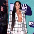 Demi Lovato sur le tapis rouge des MTV Europe Music Awards 2017 au SSE Arena, Londres, le 12 novembre 2017.