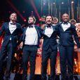 """La troupe des Enfoirés à l'occasion du spectacle """"Musique !"""" joué à Strasbourg en janvier 2018. Le spectacle a été diffusé le 9 mars 2018 sur TF1."""
