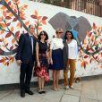 """La Première Dame Brigitte Macron (Trogneux) - La Première Dame française visite du """"Street Art"""" dans le quartier de Lodi Colony à New Delhi, Inde, le 11 mars 2018"""