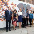 La première dame Brigitte Macron (Trogneux) - La Première Dame française visite le quartier de Lodi Colony à New Delhi en Inde où l'on peut voir du street art - le 11 mars 2018.