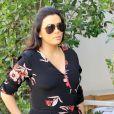 Eva Longoria, enceinte, est allée déjeuner en famille au restaurant E Baldi à Beverly Hills. Le 25 janvier 2018