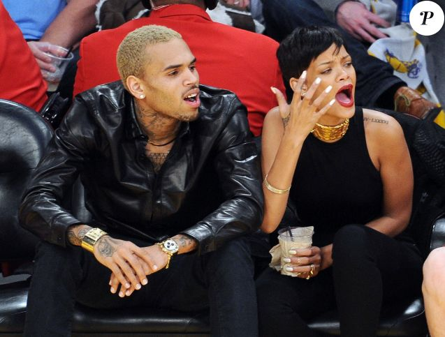 Rihanna et Chris Brown à Los Angeles. Décembre 2012.