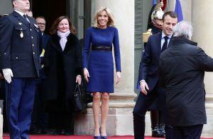Brigitte Macron ressort sa robe