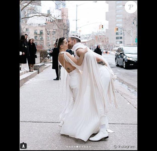 Nico Tortorella a épousé Bethany Meyers à New York. Instagram, mars 2018.