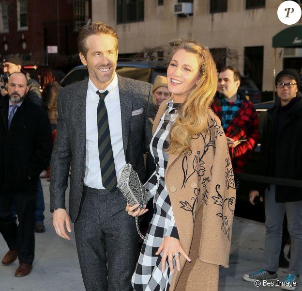 Blake Lively et son mari Ryan Reynolds à New York, le 22 mars 2018.