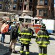 L'incendie sur le tournage du film d'Edward Norton, Motherless Brooklyn, le 22 mars 2018 à New York