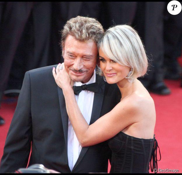 Johnny Hallyday et sa femme Laeticia Hallyday au Festival de Cannes 2009