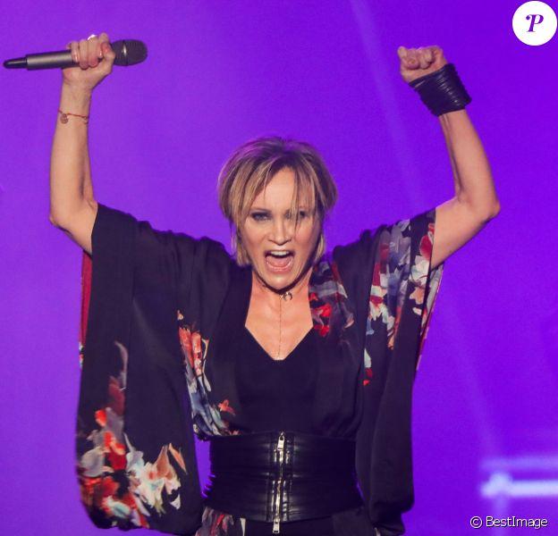 Patricia Kaas en concert au Crocus City Hall à Moscou le 13 décembre 2017.