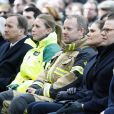 La princesse héritière Victoria de Suède et son mari le prince Daniel ont assisté le 7 avril 2018 à Stockholm dans le parc du Kungsträdgarden à un concert commémoratif en hommage aux victimes de l'attentat au camion-bélier perpétré un an plus tôt, le 7 avril 2017, dans la rue piétonne Drottninggatan.