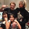 Johnny et Laeticia Hallyday avec leurs filles Jade et Joy. Octobre 2017.