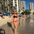 Jérémy Florès et Hinarini de Longeaux, Miss Tahiti 2012, ont annoncé le 9 avril 2018 sur Facebook la naissance de leur premier enfant, une petite fille prénommée Hinahei. Ici, Hinarini durant sa grossesse, photo Instagram du 27 décembre 2017.
