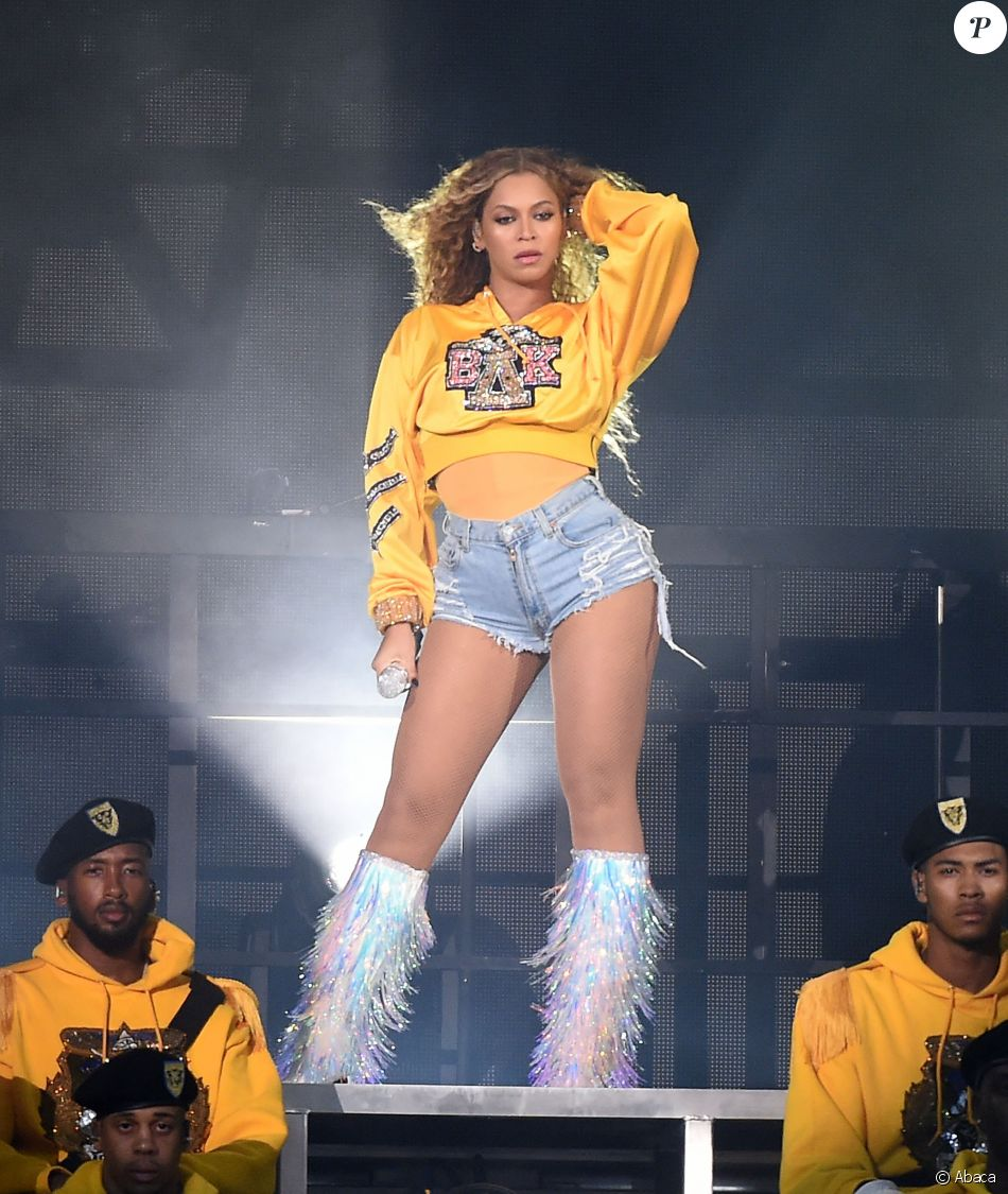 Beyonce en concert au Coachella Valley Music And Arts Festival à Indio le 14 avril 2018.