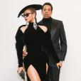 Beyoncé (en robe Nicolas Jebran et chaussures Jimmy Choo) et Jay-Z le 28 janvier 2018 à Los Angeles pour les Grammy Awards.