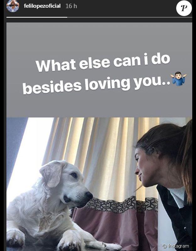 Feliciano Lopez adresse une déclaration d'amour à sa compagne Sandra Gago sur Instagram. Avril 2018.