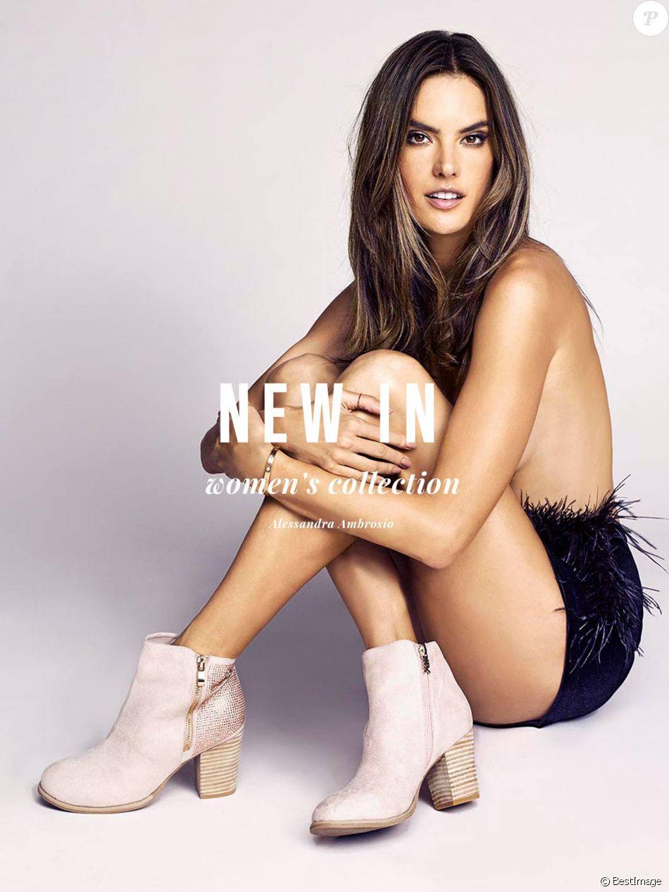 Alessandra Ambrosio pose pour la campagne publicitaire printemps-été 2018 de la marque espagnole Xti.