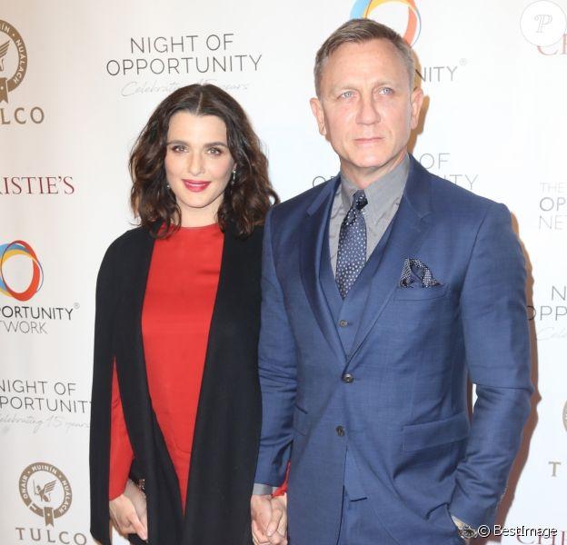 Daniel Craig et sa femme Rachel Weisz à la 11e soirée annuelle Opportunity Network à New York, le 9 avril 2018