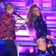 Beyoncé lors de sa 2e performance au festival de musique de Coachella à Indio, en Californie, le 21 avril 2018