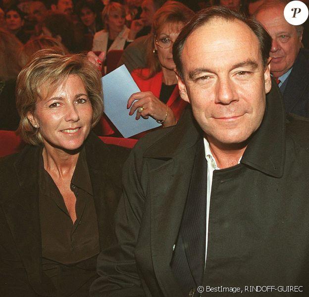 Claire Chazal et Xavier Couture en 2001.