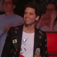 """Mika lors du deuxième live de """"The Voice 7"""" (TF1) samedi 28 avril 2018."""