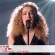 """Ecco lors du deuxième live de """"The Voice 7"""" (TF1) samedi 28 avril 2018."""