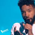 """Hobbs lors du deuxième live de """"The Voice 7"""" (TF1) samedi 28 avril 2018."""