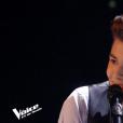 "Raffi Arto lors du deuxième live de ""The Voice 7"" (TF1) samedi 28 avril 2018."