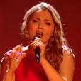 "Yasmine Ammari lors du deuxième live de ""The Voice 7"" (TF1) samedi 28 avril 2018."