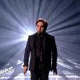 """Frédéric Longbois lors du deuxième live de """"The Voice 7"""" (TF1) samedi 28 avril 2018."""