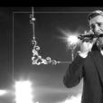 "Edouard Edouard lors du deuxième live de ""The Voice 7"" (TF1) samedi 28 avril 2018."