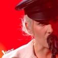 """B Demi-Mondaine lors du deuxième live de """"The Voice 7"""" (TF1) samedi 28 avril 2018."""