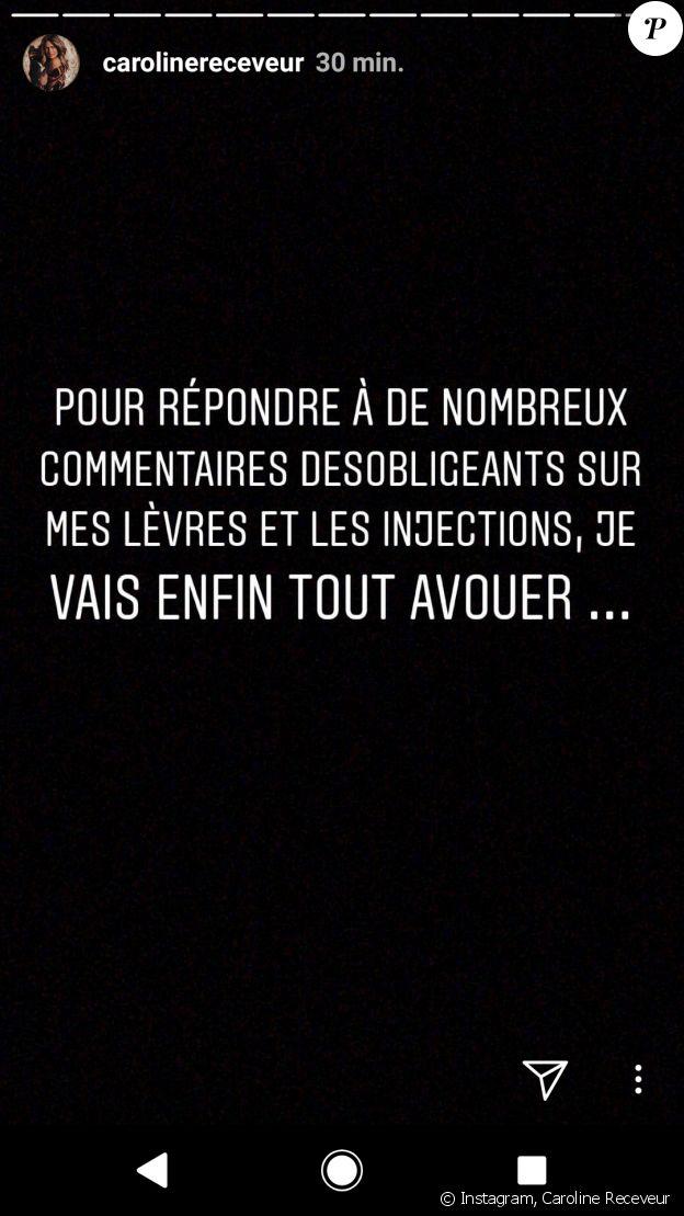 Caroline Receveur répond aux critiques sur son physique, Insta Story, 3 mai 2018