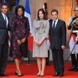 Carla Bruni, Michelle Obama et leurs époux