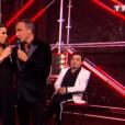 "Karine Ferri et Nikos Aliagas - demi-finale de ""The Voice 7"", samedi 5 mai 20158, TF1"