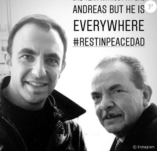 L'hommage de Nikos Aliagas à son défunt père Andréas, le 9 mai 2018.