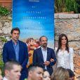 """Exclusif - Penelope Cruz, Asghar Farhadi, Javier Bardem pour le film """"Everybody Knows"""" - Enregistrement de l'émission """"On n'est pas couché"""" à la Villa Domergue lors du 71ème Festival International du Film de Cannes le 9 mai 2018. L'émission sera diffusée le vendredi 11 mai à 23h35. © Philippe Doignon/Bestimage"""
