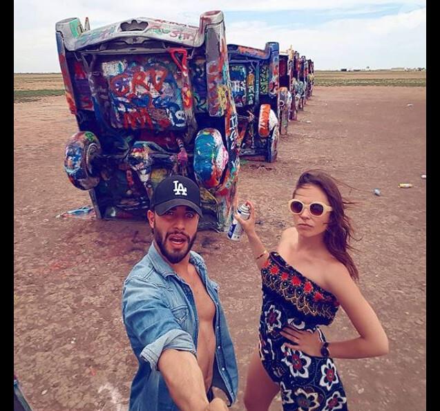 Dounia Coesens et Marwan Berreni sur la route 66, Instagram, mai 2018