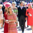 Cressida Bonas en robe Eponine London au mariage de son ex-boyfriend le prince Harry avec Meghan Markle le 19 mai 2018 à Windsor.