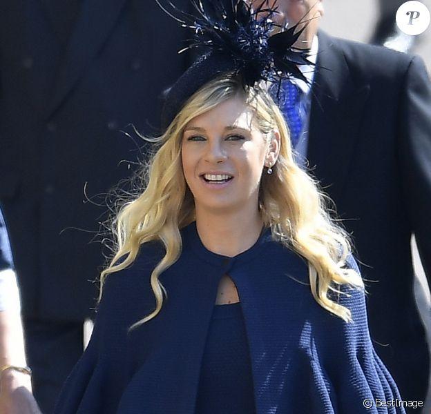 Chelsy Davy habillée d'une robe Alaia au mariage de son ex-boyfriend le prince Harry avec Meghan Markle le 19 mai 2018 à Windsor.