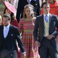 Cressida Bonas, portant une robe Eponine London, au mariage de son ex-boyfriend le prince Harry avec Meghan Markle le 19 mai 2018 à Windsor.