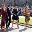 Chelsy Davy en robe Alaia au mariage de son ex-boyfriend le prince Harry avec Meghan Markle le 19 mai 2018 à Windsor.