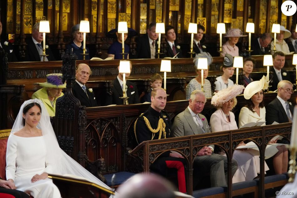 Une place est restée vacante devant la reine Elizabeth II lors du mariage  du prince Harry et de Meghan Markle le 19 mai 2018 en la chapelle St George  à